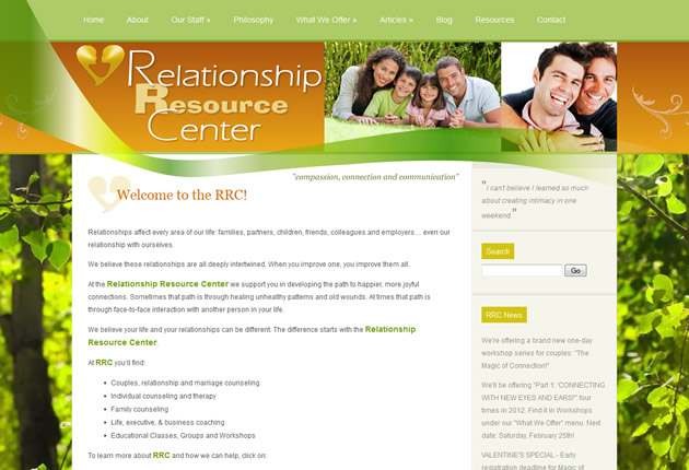 Relationship Resource Center, Denver, content management system designed and developed by Sites and Beyond, Louisville, Longmont, Boulder, Colorado