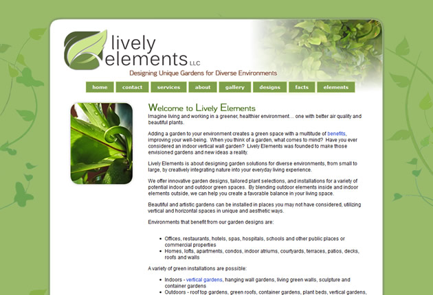 Lively Elements, designed and developed by Sites and Beyond, Louisville, Boulder, Superior, Colorado